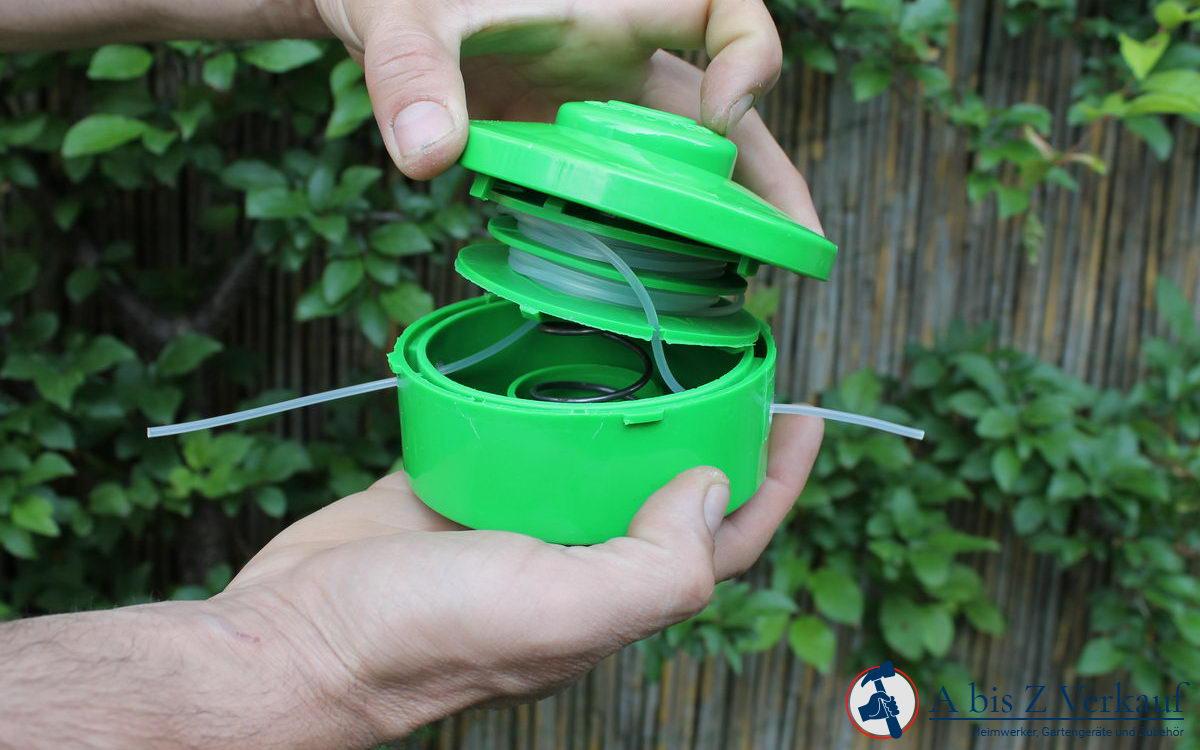 Wie wickelt man eine Fadenspule eines Trimmers oder einer Benzin Sense richtig auf