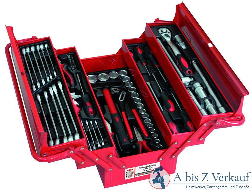 Werkzeugset Holzmann WZK86CRW für Auto im Koffer